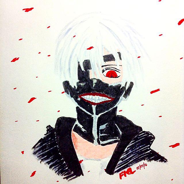 Kaneki From Tokyo Ghoul Portrait
