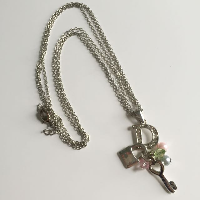 Letter D With Charms Necklace