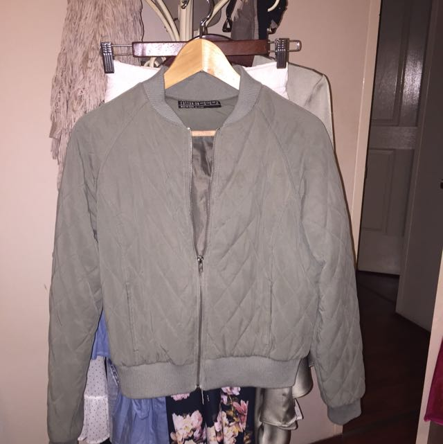 Light Khaki bomber Jacket (cotton on)