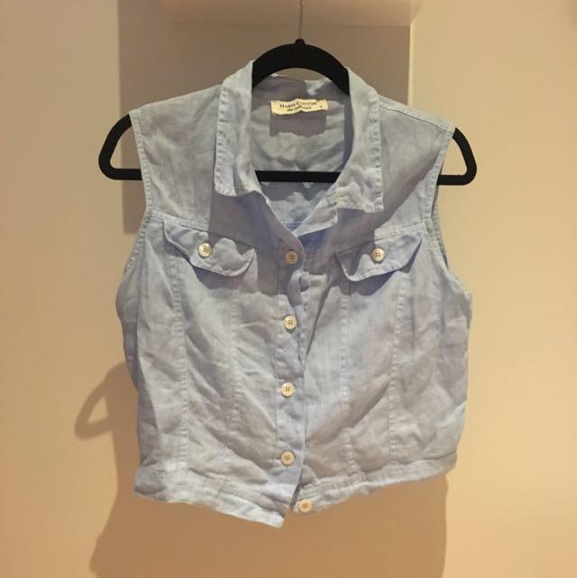 Linen Sleeveless Shirt