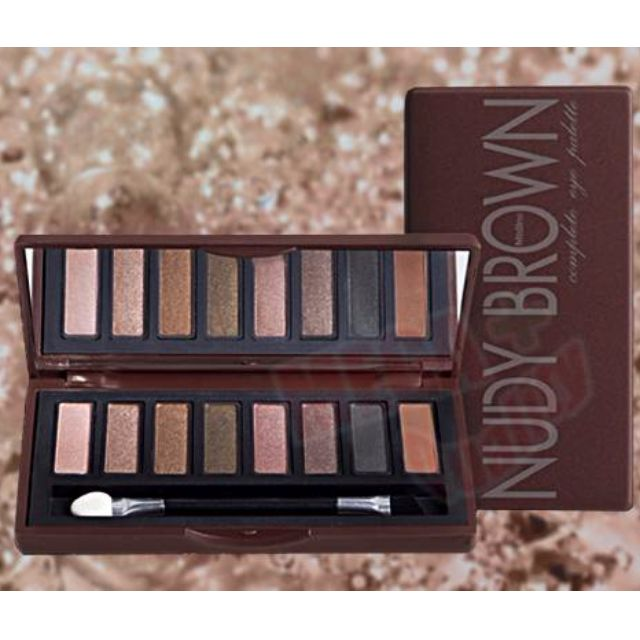 Mistine NUDY BROWN Complete Eye Palette 8 Shades Colors Smooth Texture 7g