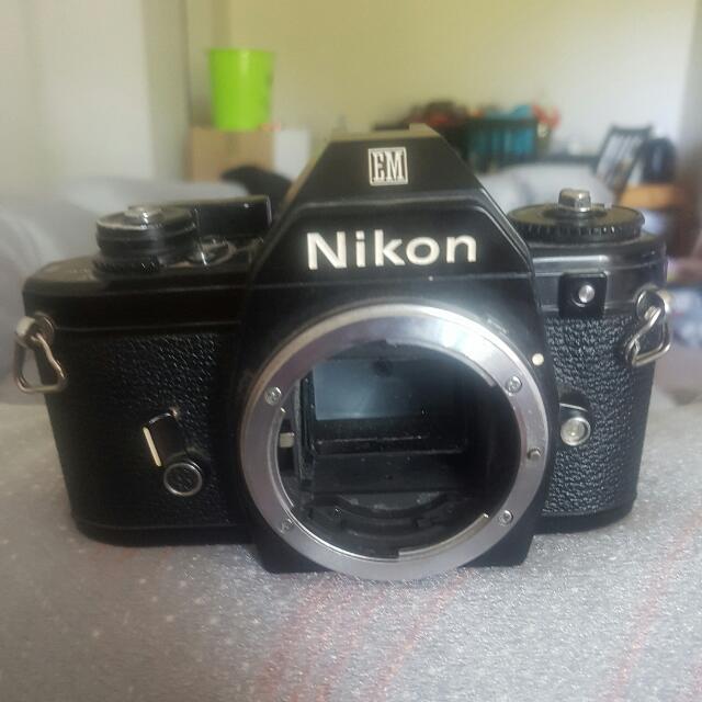 Nikon EM camera with Nikon Series E 50 mm lens