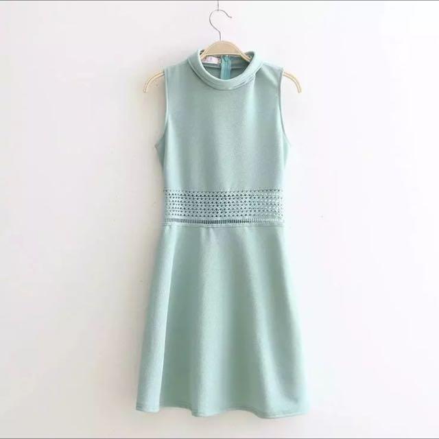 [PO WM01] Waist Lace Crochet Cut Out Dess