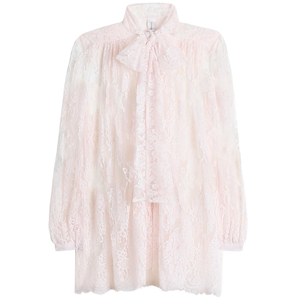 Preown Zimmermann Rhythm Lace Bow Tie Blouse