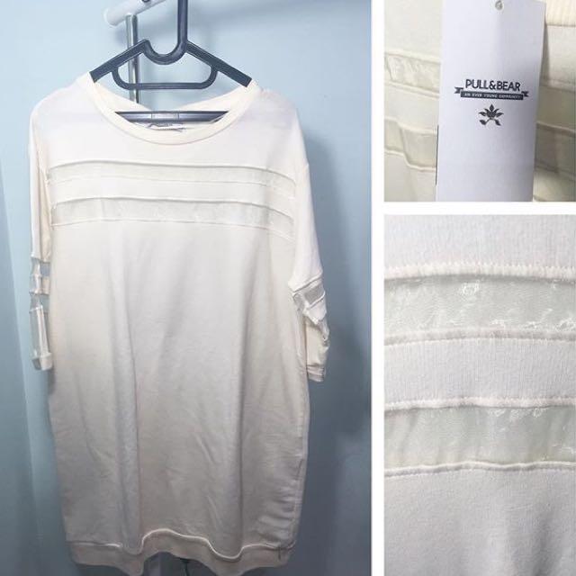 PULL&BEAR WHITE DRESS