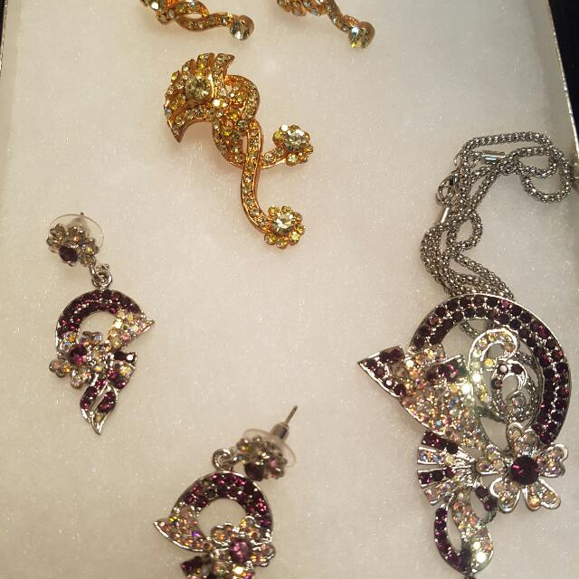 Purple And Gold Jewelry