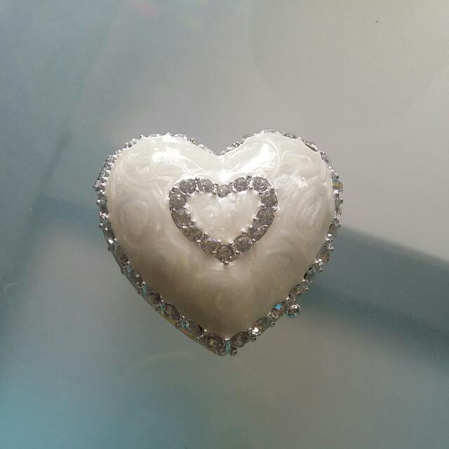 Small Heart Shaped Jewellery Box