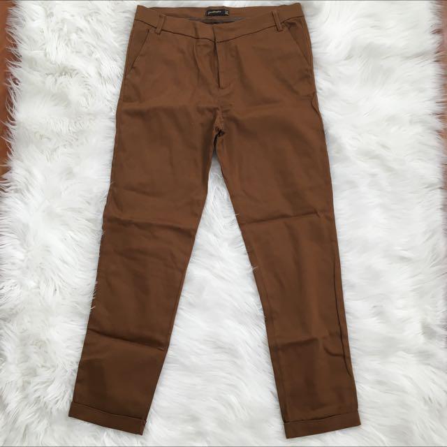 Stradivarius Brown Office Pants