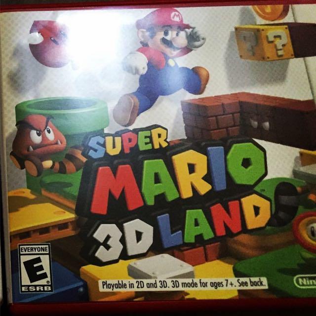 Super Mario 3D Land For Nintendo 3dsxl