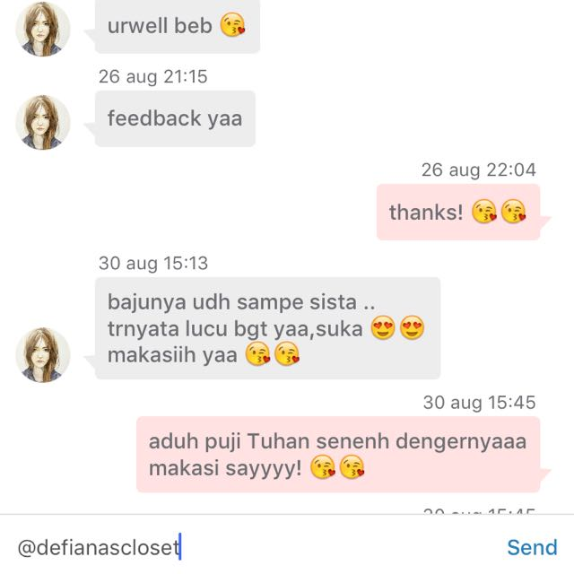 testi thank u dear happy shopping 😽
