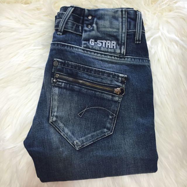 Womens GSTAR skinny Jeans Size 24, 6-8 - ALMOST NEW