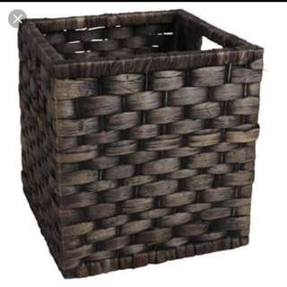 27cm Wicker Basket Square