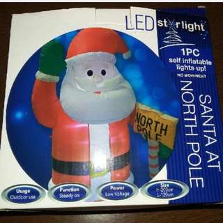 Self Inflating Santa Claus