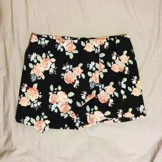 Floral Skort (skirt + shorts)