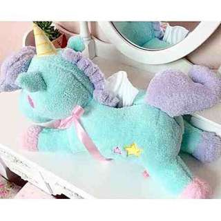 PO. UNICORN TISSUE BOX HOLDER