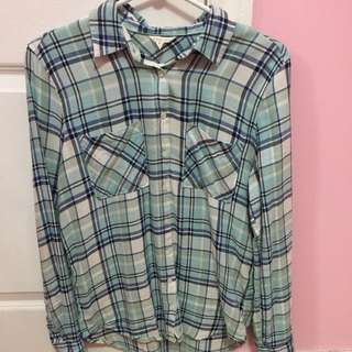 Blue Flannel Top From Aeropostale