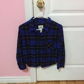 FOREVER 21 Blue Flannel