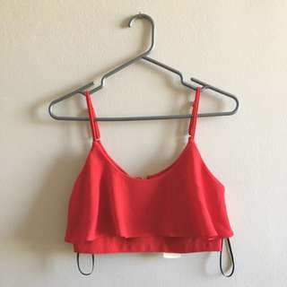 New Red F21 Crop Top