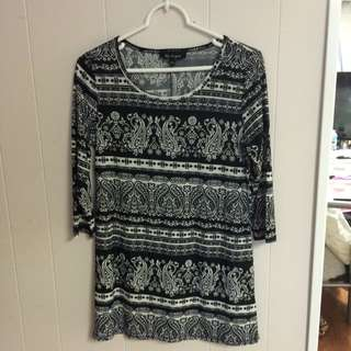 Size Small Black And White Dress