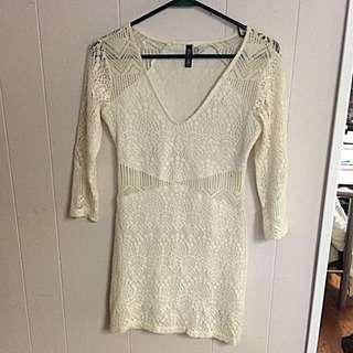 XS Cream Coloured Dress