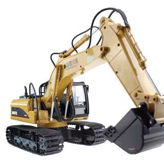 RC EXCAVATOR - HuiNa Toys1550 15Channel 2.4G Metal Excavator RC