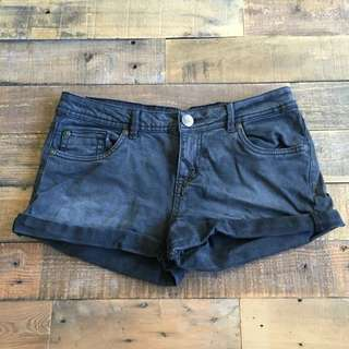 WORN ONCE - Black Denim Shorts