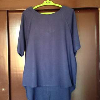 For Me Blue Blouse