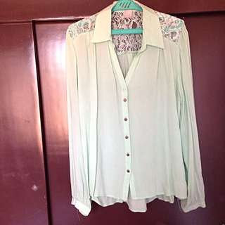 Love 21 Mint Green Blouse
