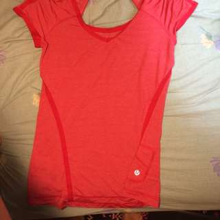 Red Lululemon Workout Top