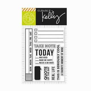 Kelly Purkey TAKE NOTE Stamp Set
