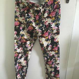 Jay Jays high waisted floral denim jeans