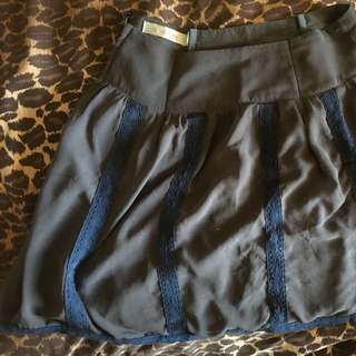 Grey Lacy Mink Pink Skirt