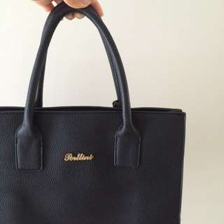 RRP$100 Black Leather Bag