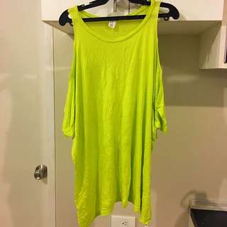 Yellow Green F21 Top
