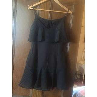 NWT Black Open Back Dress