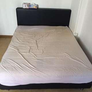 Queen Sized Bed Frame/ mattress