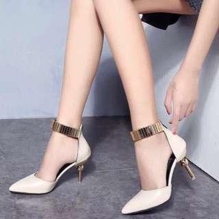 韓國金屬環高跟鞋👠