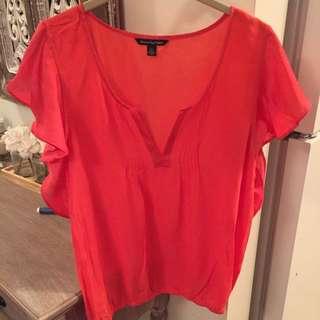 AE Coral Silk Shirt