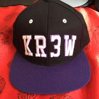 Mens Kr3w Snapback Black Purple