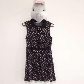 Black Ice-cream Dress