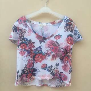 Bershka Flower T Shirt