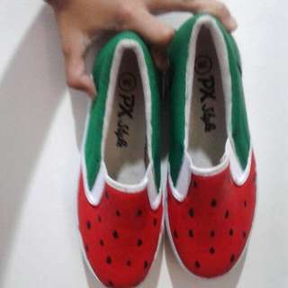 (NEW) REPRICE Watermelon Slip On Free Shipping