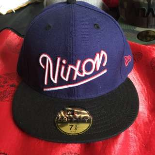 Nixon New Era Fitted Cap Navy Blue Size 7 3/8