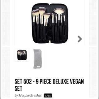 Authentic&New Morphe Brushes *Deluxe Vegan  (Flat Foundation Brush+ Angle Blush Brush)