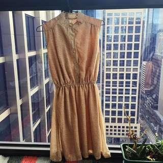 Chiffon Dress With Vintage Print