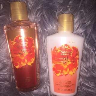 Victoria Secret Passion Struck Body Wash And Lotion