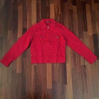 Red Denim Vintage Jacket