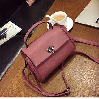 New Korean Style Solid Shoulder Bag