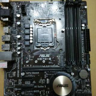 RMA回來的全新華碩H97M-E主機板一片,motherboard Only.