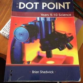 Dotpoint Year 9-10 Science